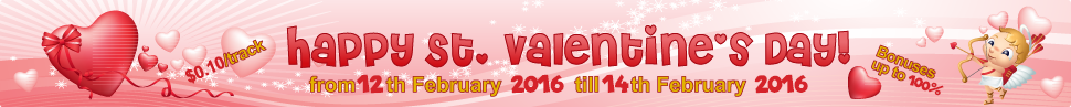 Welcome to the St. Valentine's day sale!